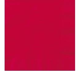 Servetėlės,  ryškiai raudonos (50 vnt./33x33 cm)