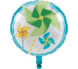 """Folinis balionas """"Melsvi vėjo malūnėliai"""" (45 cm)"""