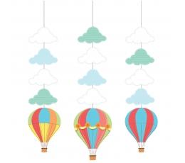 """Kabančios dekoracijos """"Oro balionai"""" (3 vnt.)"""