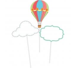 """Įsmeigiamos dekoracijos """"Oro balionai"""" (6 vnt.)"""