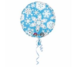 """Folinis balionas """"Žydros snaigės"""" (43 cm)"""