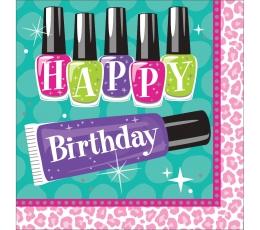 """Servetėlės """"Grožio salonas.Su gimtadieniu"""" (16 vnt.)"""