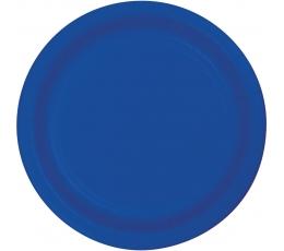 Lėkštutės, skaisčiai mėlynos (8 vnt./18 cm)