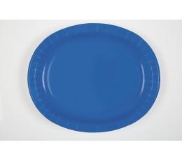 Lėkštutės, skaisčiai mėlynos ovalios (8 vnt./30 cm)