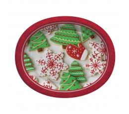 """Lėkštutės """"Kalėdiniai meduoliai"""", didelės ovalios (8 vnt./30 cm)"""