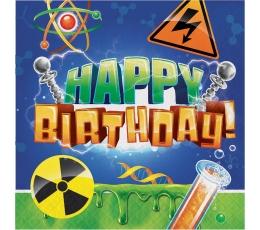 """Servetėlės """"Mokslininkas.Su gimimo diena"""" (16 vnt.)"""