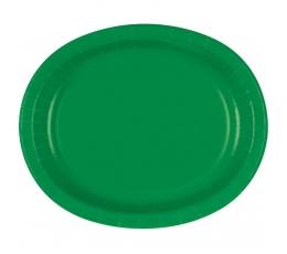 Lėkštutės, žalios ovalios (8 vnt./30 cm)
