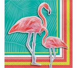 """Servetėlės """"Flamingai"""" (16 vnt.)"""