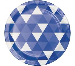 """Lėkštutės """"Mėlynos figūros"""" (8 vnt./18 cm)"""