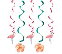 """Kabančios dekoracijos """"Flamingai"""" (5 vnt.)"""