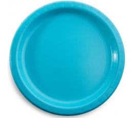 Lėkštutės, turkio spalvos (8 vnt./22 cm)