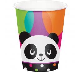"Puodeliai ""Linksmoji panda"" (8 vnt./266 ml)"