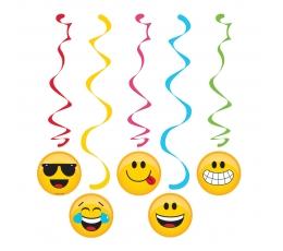 """Kabančios dekoracijos """"Šypseniukai-Emojions"""" (5 vnt.)"""