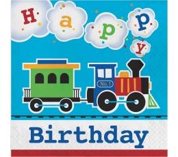 """Servetėlės """"Traukinukas. Su gimimo diena"""" (16 vnt.)"""