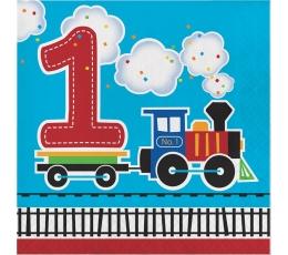 """Servetėlės """"Traukinukas.1-asis gimtadienis"""" (16 vnt.)"""
