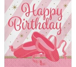 """Servetėlės """"Baletas.Su gimimo diena"""" (16 vnt.)"""