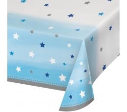 """Staltiesė """"Melsvos žvaigždutės"""" (137x254 cm)"""