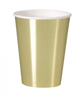 Puodeliai, žvilgantys auksiniai (8 vnt./355 ml)