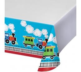 """Staltiesė """"Traukinukas"""" (137x259 cm)"""