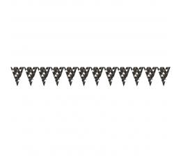 """Vėliavėlių girlianda """"Juodos figūros"""" (2,74 m)"""