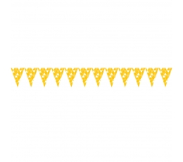 "Vėliavėlių girlianda ""Geltonos figūros"" (2,74 m)"