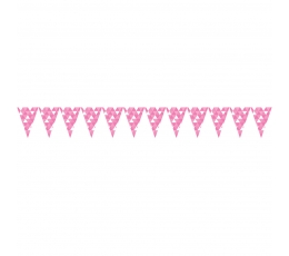 """Vėliavėlių girlianda """"Rožinės figūros"""" (2,74 m)"""