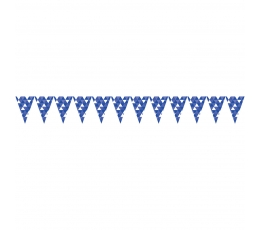 """Vėliavėlių girlianda """"Mėlynos figūros"""" (2,74 m)"""