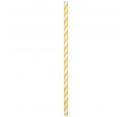 Šiaudeliai, geltonai dryžuoti- lankstūs (24 vnt.)