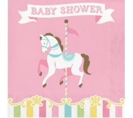 "Servetėlės ""Karuselė.Baby shower"" (16 vnt.)"