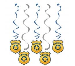"""Kabančios dekoracijos """"Policininkai"""" (5 vnt.)"""