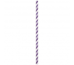 Šiaudeliai, violetiniai dryžuoti (24 vnt.)