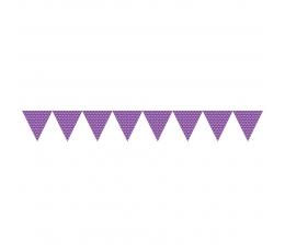 Vėliavėlių girlianda, taškuotai violetinė (2,74 m)