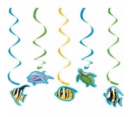 "Kabančios dekoracijos ""Vandenyno paslaptys"" (5vnt.)"