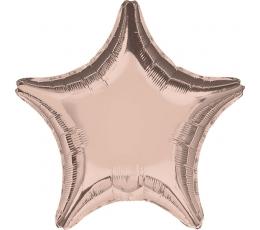 """Folinis balionas """"Rožinio aukso žvaigždė"""" (45 cm)"""