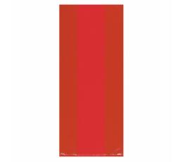 Plastikiniai dovanų maišeliai, raudoni (25 vnt.)