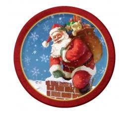 """Lėkštutės """"Kalėdų senelis"""" (8 vnt./17 cm)"""