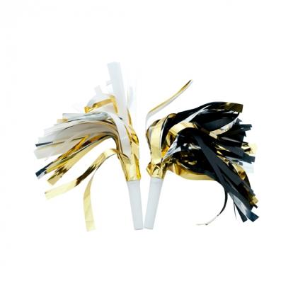 Švilpukai, juodai-balti auksiniai (6 vnt.)