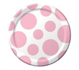 Lėkštutės, švelniai rožiniai burbulai (8 vnt./18 cm)