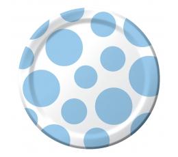 Lėkštutės, žydri burbulai (8 vnt./17 cm)