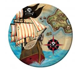 """Lėkštutės """"Piratų lobis"""" (8 vnt./18 cm)"""