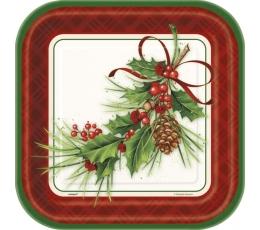 """Lėkštutės """"Kalėdų puokštė"""" (8 vnt./22 cm)"""