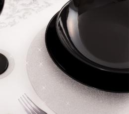 Kartono padėkliukai, sidabriniai blizgūs (4 vnt./33 cm) 1