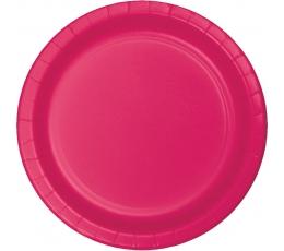 Lėkštutės, ryškiai rožinės (24 vnt./22 cm)