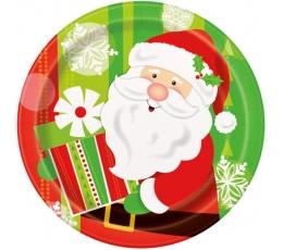 """Lėkštutės """"Kalėdų senelio dovanos"""" (8 vnt./18 cm)"""