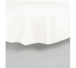 Staltiesė, balta apvali (2,13 m)