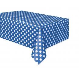 Staltiesė, taškuotai mėlyna (137x274 cm)