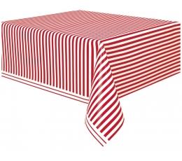 Staltiesė, raudonai dryžuota (137x274 cm)
