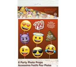 "Aksesuarai fotosesijai ""Emoji"" (8 vnt.)"