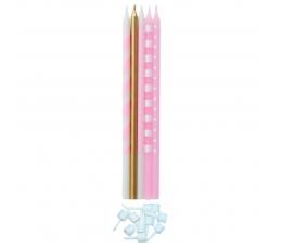 Žvakučių rinkinys, rožinis blizgus (10 vn./15,5 cm)
