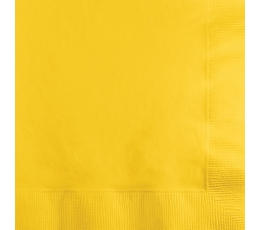Servetėlės, geltonos (20 vnt.)